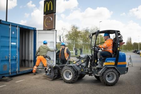 Grond, riool en straatwerk McDonalds, Schiphol